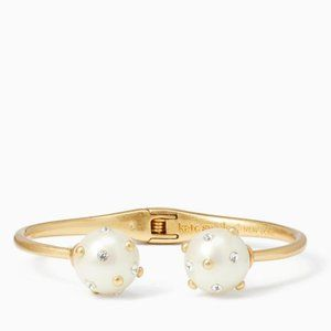 NEW Kate Spade Pearl Bauble Open Hinged Cuff